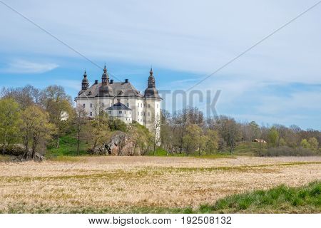 LINKOPING, SWEDEN - MAY 13, 2017: Ekenas castle in the countryside outside Linkoping. The castle, which is a popular tourist attraction, was built in the 17th century.