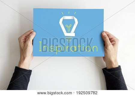 Creative Innovation Inspiration Light Bulb Graphic Word