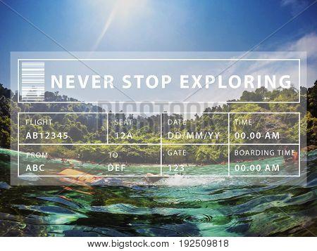 Sea Summer Vacation Travel Journey Word