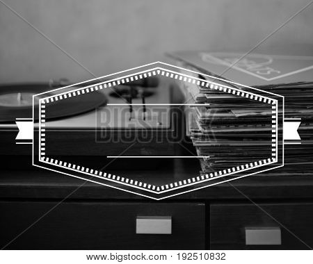 Badge Banner Label Blank Copy Space