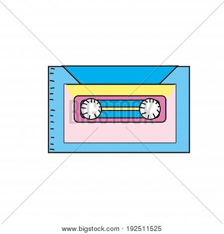 retro cassete to listen kind music vector illustration