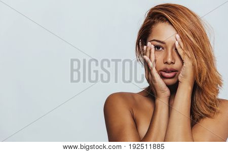 Young African Woman Looking Worried