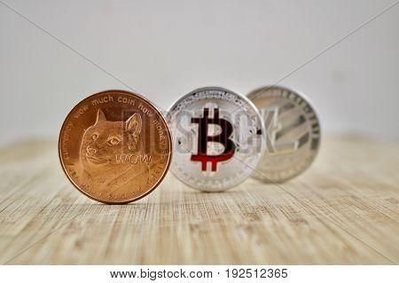Dogecoin Bitcoin Litecoin