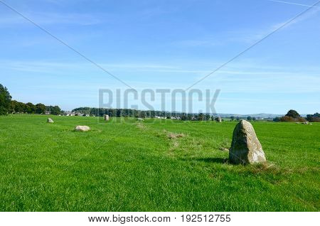 Twelve apostles stone circle, Dumfriesshire - this stone circle was built & used in the late neolithic or early Bronze Age around 3000-15000 BC and is the largest henge in Scotland.