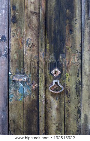 a old door with damaged wooden texture
