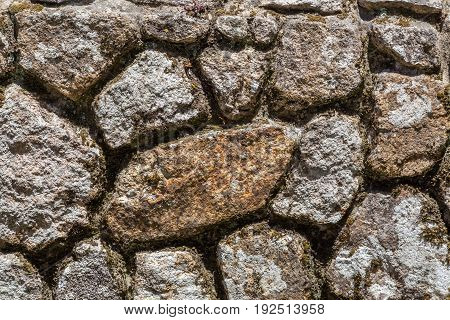 Closeup Old Wall From Rocks With Mpss