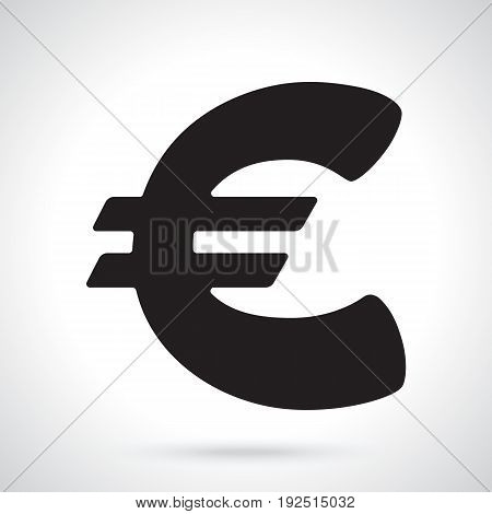 Vector illustration. Silhouette of euro sign. The symbol of world currencies