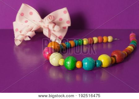 Various elastic bands hair clips beads bows for girls