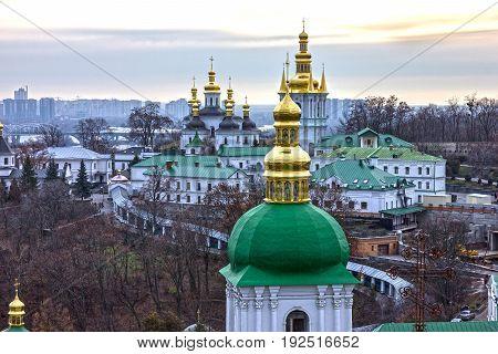 Kiev monastery Pechersk Lavra architectural view, Ukraine