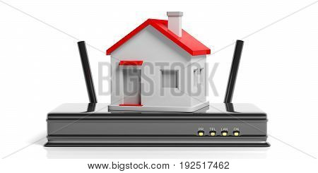 Wifi At Home Concept. 3D Illustration