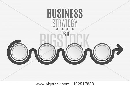 Elements of the infographics are black for your projects. Empty paper circles, banners for text and symbols. Business project. Vector illustration. EPS 10