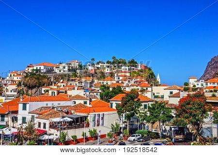 MADEIRA, PORTUGAL - APR 18 2017: Fishing village Camara de Lobos Madeira, Portugal.