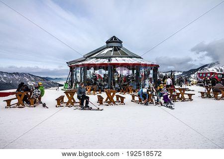 Jasna, Slovakia - Jan 6, 2017: Winter ski resort Jasna in Slovakia.