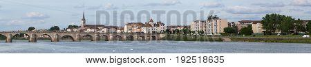 Macon and Pont Saint-Laurent, Chalon sur Saone, France