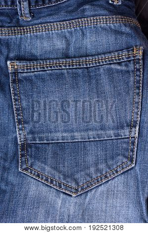 Jeans close-up. pocket seams, pants, pocket with seam