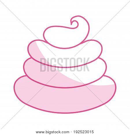 Sweet cream children icon vector illustration design shadow