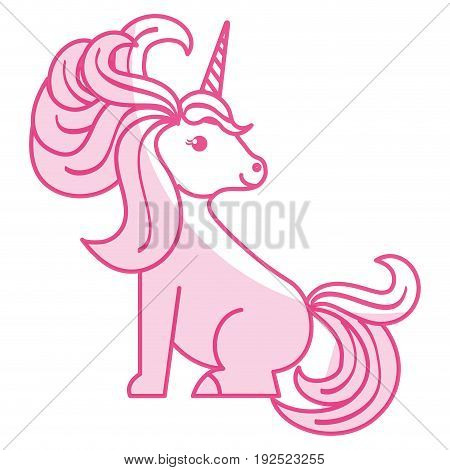 Unicorn animal horn icon vector illustration design shadow