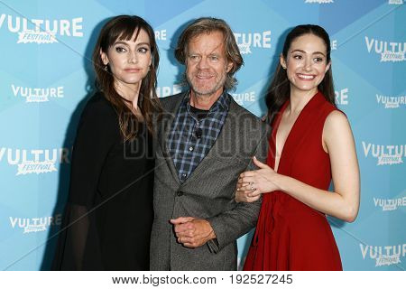 NEW YORK, NY - MAY 21: Actors Nancy Pimental, William H. Macy and Emmy Rossum attend the 'Shameless' panel during the 2017 Vulture Festival at Milk Studios on May 21, 2017 in New York City.