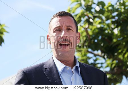 Adam Sandler attends 'The Meyerowitz Stories' photocall during the 70th annual Cannes Film Festival at Palais des Festivals on May 21, 2017 in Cannes, France.