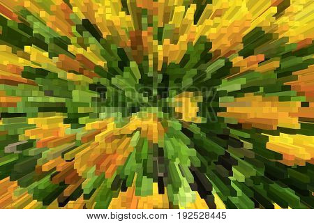 green and yellow abstraction like an explosion