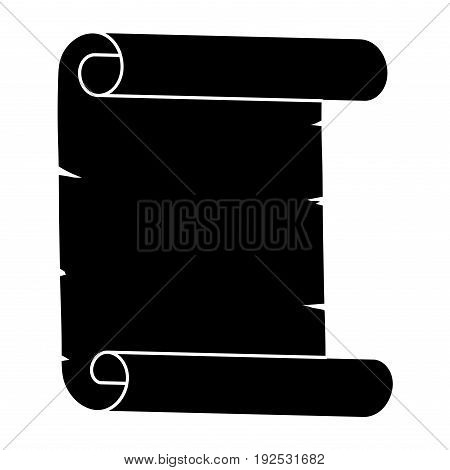 Paper Scroll Silhouette Vector Symbol Icon Design. Beautiful Illustration Isolated On White Backgrou