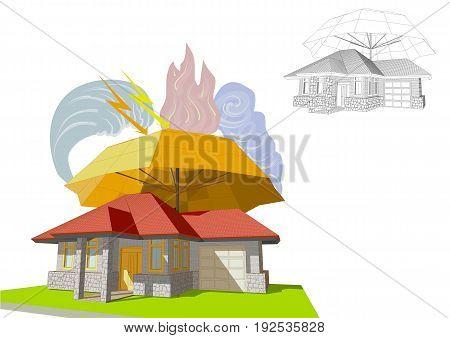 home insurance vector illustration on white background