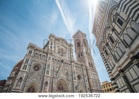 Florence Duomo Cathedral. Basilica Di Santa Maria Del Fiore Or Basilica Of Saint Mary Of The Flower