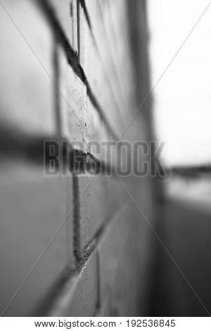 Vertical black and white city brick wall background hd