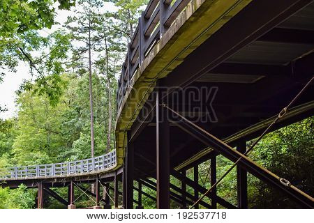 Scenic overpass in the Blue Ridge Mountains of North Carolina