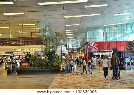 Waiting Area Before Boarding In Changi Airport