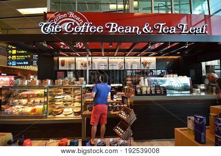 The Coffee Bean & Tea Leaf At Singapore Changi Airport