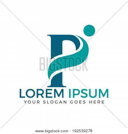 Letter P adoption and community care logo design.