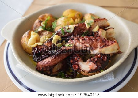 Grilled Octopus With Batatas A Murro