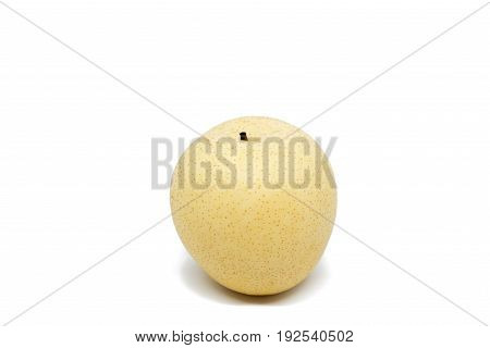 Chinese pear isolated on white background with clipping path