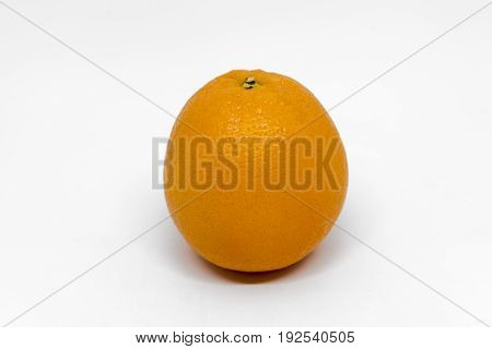 Orange isolated on white background with clipping path