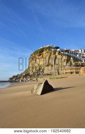 Atlantic Ocean Coast, Azenhas Do Mar Village, Sintra, Lisbon, Portugal