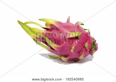 Dragon fruit isolated on white background with clipping path