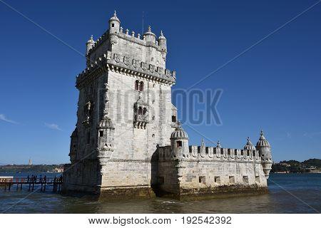 Torre De Belem Or Belem Tower, Lisbon, Portugal