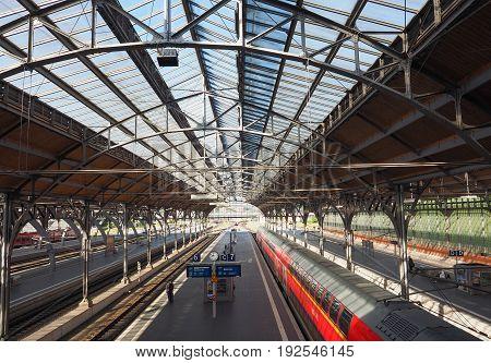 Hauptbahnhof (central Train Station) In Luebeck