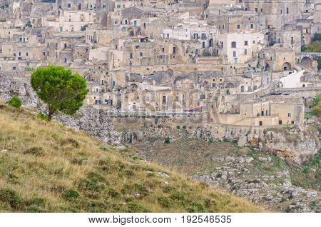 Sasso Caveoso is a startling cave town, a UNESCO World Heritage Site, one of the oldest continually inhabited settlements - Matera, Basilicata, Italy