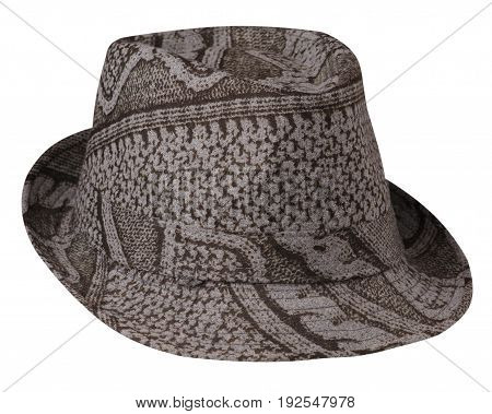 Hat With A Brim .hat Isolated On White Background