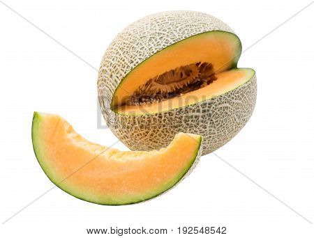 Melon sweet fruit for pingsu path and isolated on white