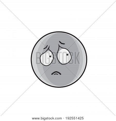 Sad Cartoon Face Expression People Emoticon Emoji Vector Illustration