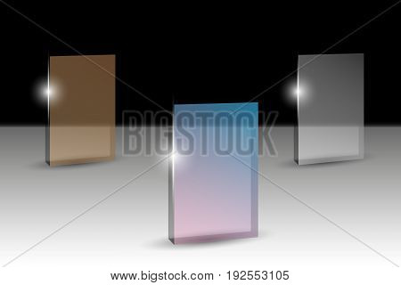 Transparent banners for text. Vector illustration EPS10