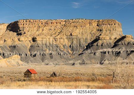 Hot summer rural Utah back country ridge