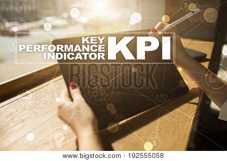KPI. Key performance indicator. Business and technology concept