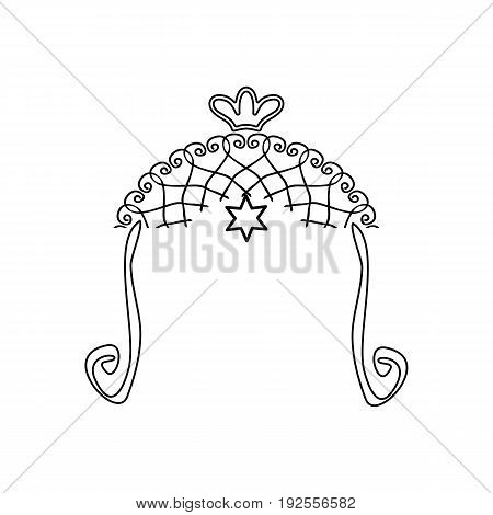Vintage graphic Chuppah. Religious Jewish wedding canopy for. illustration on isolated background.