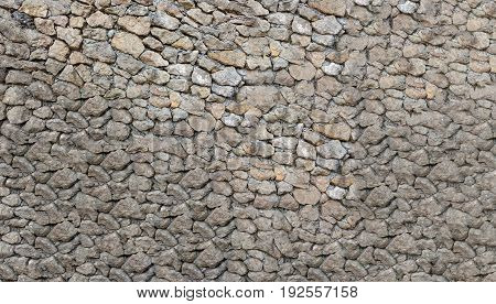 Background of stone wall texture close up