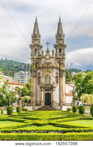 View at the church of Nossa Senhora da Consolacao in Guimaraes - Portugal