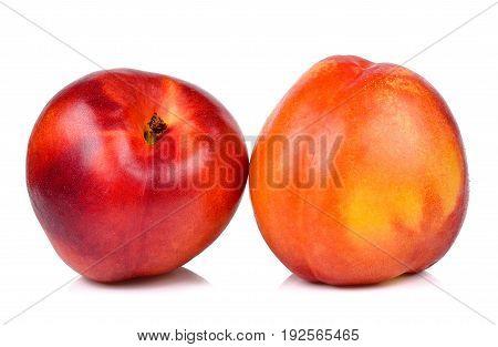 Nectarine Isolated On The White Background